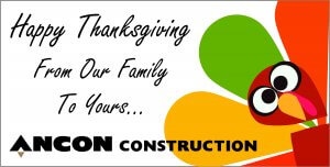 ANCON Construction Happy Thanksgiving