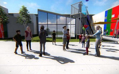Ancon Construction Unveils Fly Thru Video of the New ETHOS Science Center!